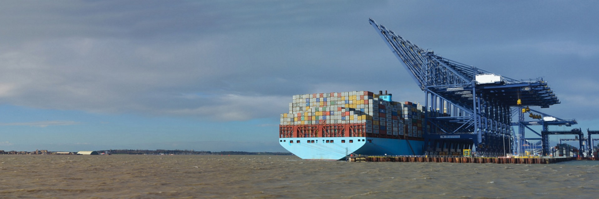 Container ship loading at Felixstowe for Eupean Pallet Services