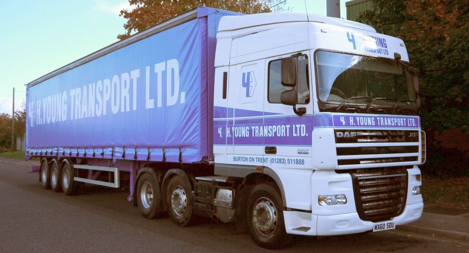 H Young transport of Burton on Trent - Liveried Trailer